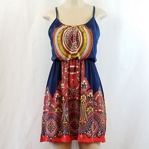Bailey Blue Knit Strappy Dress